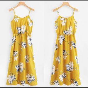 Dresses & Skirts - Sunburst Yellow Flowered Sundress